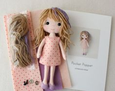 Complete set of pdf Patterns for Pocket Poppet Doll by Gingermelon