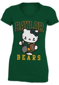 I'm not even a Hello Kitty fan but this is so cute!  Product: #Baylor University Bears Women's V-Neck T-Shirt