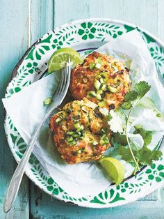 Thai Style Salmon And Brown Rice Fish Cakes | Donna Hay