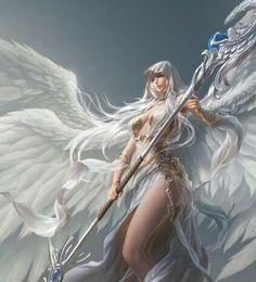 league of angels Fantasy Art Angels, Fantasy Art Women, Dark Fantasy Art, Fantasy Girl, Fantasy Artwork, League Of Angels, Angel Warrior, Fantasy Warrior, Fantasy Comics