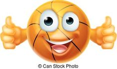 Cartoon Basketball Ball Man Character