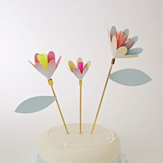 Toot Sweet Flower Cake Toppers