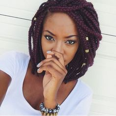 Short box braids