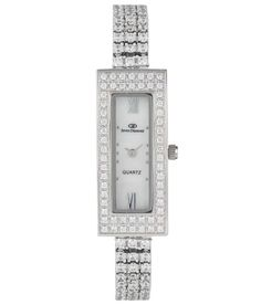 Blissskart Exclusive Diomand Cut Swarovski Element Silver Rectangular Dial Watch in India. Deals and discount coupons for Branded watches. Metal Gender : Women Display : Analog Dial Shape : Rectangular Dial Dimension in MM : 38×16 MM Wearability : Party-Wedding Warranty : 1 Year