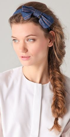 This RED Valentino bow works with the fishtail braid...