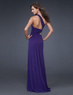 2011 Style Empire One Shoulder Sleeveless Floor-length Chiffon  Bridesmaid / Evening Dresses / Prom Dresses