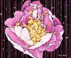 darksilenceinsuburbia:  정미혜 MiHye Chung. 만개 blossom of glory, 38×42cm, 장지에 석채, 분채, 자개, 2010.