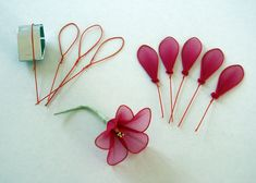 leaves made of wire and nylon | ... flowers, stocking and synthetic clay. Accessories. Made to order