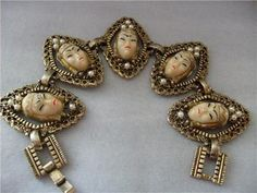 Vintage Selro Selini Asian Princess Bracelet