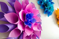14 amazing DIY flower crafts, like these beautiful paper dahlias at Craftaholics Anonymous