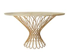 INTERLACED BRASS DINING TABLE - I love a breakfast table in the kitchen!