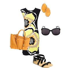 """14"" by jtells on Polyvore, substitute heeled booties for the sandals and we're good to go!"