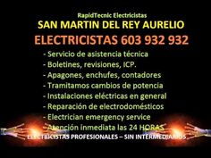 Electricistas SAN MARTIN DEL REY AURELIO 603 932 932 Baratos