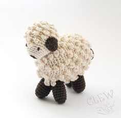 Handmade Crocheted Soft Toy  Amigurumi Sheep / Lamb by Clewinhand, $20.00