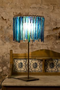 Aqua Botanica single Tier table lamp