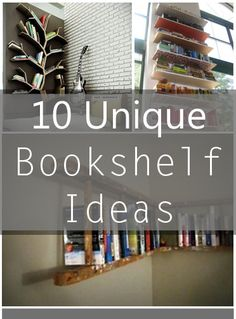 10 Unique Bookshelf Ideas