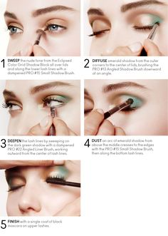 How to get the soft smoky Eclipsed eye look with emerald. #Sephora #Pantone