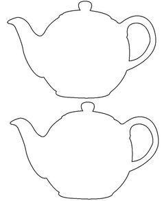 Drawn Teapot Template 466 Birthday Invitations Diy Tea Pots