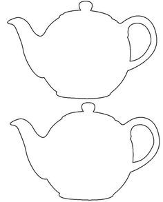 Drawn Teapot Template 466 Birthday Invitations Diy Tea Pots
