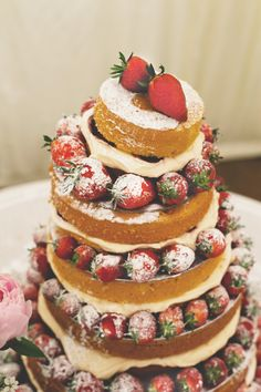 Naked cakes are going to be popping up more and more in 2014/2015. Perfect for the couple that doesn't like TOO much sweet.