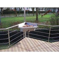 rustikaler grillofen, feuerstelle für balkon und terrasse, Hause und Garten