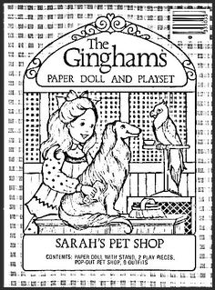 The Ginghams Coloring Page Sarahs Pet Shop