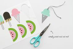 """""""Happy Summer"""" printables of cool, sweet treats ~ by Amy Moss, Oh Happy Day"""
