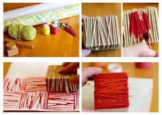 10 easy yarn projects for kids: Friday Funday roundup With these easy yarn projects for kids, your littles will be inspired to make new and creative arts and crafts with an unfamiliar material: yarn! Fun Crafts, Crafts For Kids, Arts And Crafts, Paper Crafts, Yarn Projects, Projects For Kids, Dac Diy, Diy Inspiration, Preschool Art