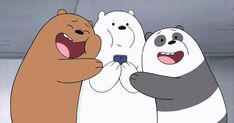 'We Bare Bears ' Sticker by We Bare Bears Wallpapers, Panda Wallpapers, Cute Cartoon Wallpapers, Pardo Panda Y Polar, Brother Bear, We Bear, Bear Cartoon, Bear Wallpaper, Cute Panda
