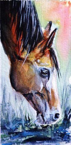 ARTFINDER: Horse by Kovács Anna Brigitta - Mini artwork