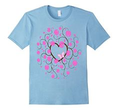 Men's Pink Butterfly, Pink Flowers, Brown Heart  T-Shirt ... https://www.amazon.com/dp/B01NCB32T3/ref=cm_sw_r_pi_dp_x_JxJtybBZ82FXC