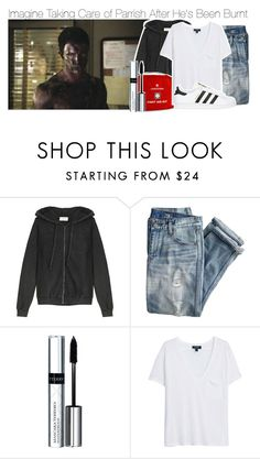 """Imagine Taking Care of Parrish After He's Been Burnt"" by fandomimagineshere ❤ liked on Polyvore featuring American Vintage, J.Crew, By Terry, MANGO and adidas Originals"
