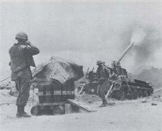 M107 self propelled howitzer (175mm) of the 83rd Field Artillery Regiment at FSB Bastogne.