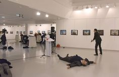 Andrey Karlov, Russia's envoy to Turkey, shot at Ankara art exhibit by gunman, a police officer who allegedly shouted 'Allahu Akbar' and 'Don't forget Aleppo' before being fatally shot by police. Ankara, Ukraine, Foreign Policy, France, Police Officer, First Photo, Ny Times, Shots, Photo And Video