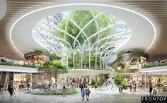 Landscape Architecture, Architecture Design, Organic Architecture, Guiyang, Theme Hotel, Commercial Complex, Mall Design, Atrium, Green Building