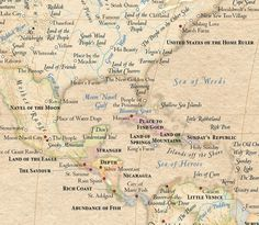 World map with place names swapped out for their original meanings...