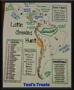 IN LOVE with this Latin America Hunt! Students can discover for themselves all about the geography of Latin America while  improving their Atlas skills all at once! Not teaching about Latin America? That is ok! This is also great for early finishers to work on as a mini research activity!