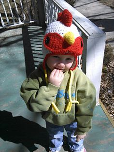 Crochet Rooster Chick Chicken Pullet Hen Hat, 2017 Year Animal Farm Hat, Newborn Baby Toddler Girl Boy Adult Man Women Winter Rooster Hat