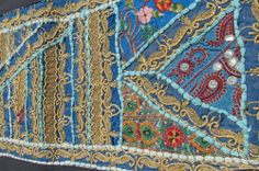 """60"""" Table Runner Sari Patchwork-intricate Designs (Wall Hanging As Well) by Nature's Body Art / Soulstice Shop. $52.00. One of a kind!. 60"""" x 14 1/2"""" Table runner / wall hanging tapestry. Fair Trade Item- Hand Made. Gorgeous one of a kind table runner / wall hanging tapestry hand made in Rajasthan India.  Intricate embroidered designs throughout the piece.   60"""" x 14 1/2""""  Fair trade purchase made by Nature's Body Art/Soulstice while visiting India"""