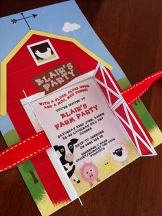 Printable BARNYARD FARM Party Collection - Barn Yard, Farm Animals - Includes bunting, party hats, tags and more