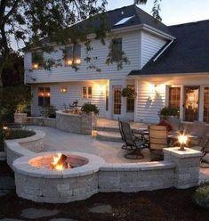 So erstellen Sie eine Outdoor-Oase – This Old House - All For Garden Concrete Patios, Concrete Patio Designs, Outdoor Patio Designs, Pavers Patio, Stone Patio Designs, Outdoor Patios, Pergola Patio, Pergola Kits, Pergola Ideas