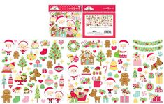 Doodlebug Design - Christmas Magic Collection - Odds and Ends - Die Cut Cardstock Pieces Scrapbook Supplies, Craft Supplies, Image Layout, Good Cheer, Holiday Traditions, Ephemera, Reindeer, Card Stock, Paper Crafts