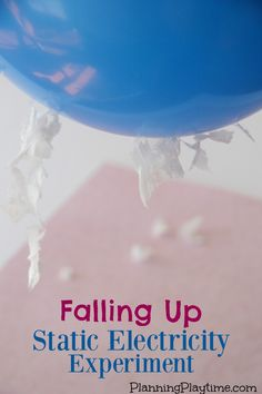 Static Electricity Science Experiment for Kids - Falling Up