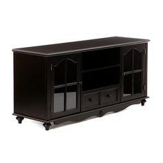 Hanover Black Entertainment Center Cabinet