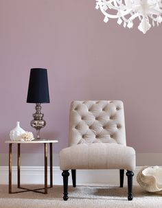 Mauve colored walls