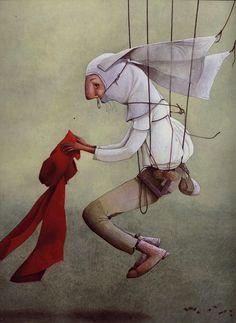 Перемена участи - Иллюстраторские техники: гуашь. Rebecca Dautremer