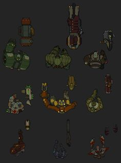 Top-Down Sci-fi Shooter Characters Top Down Game, Computer Generated Imagery, 2d Game Art, Pixel Games, 2d Character, Game Icon, Creative Thinking, Sci Fi Art, Game Design