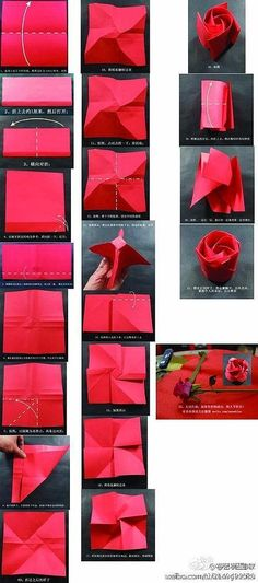 origami rose >_< haven't tried this one yet!