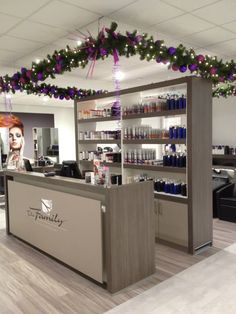 Christmas decoration at hairdressers salon made by Rich Art Design