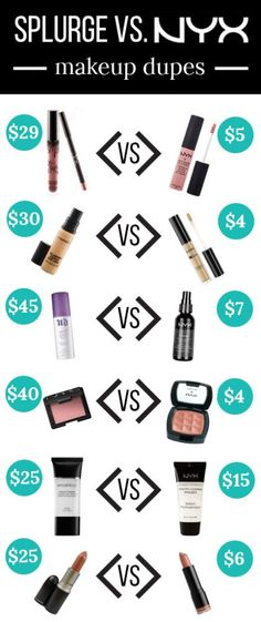 If you're on the hunt for good makeup dupes, look no further than NYX cosmetics. From NYX matte lipsticks to NYX foundation and concealer, these affordable makeup products are just as good as other brands, but the prices are so much more cheap!